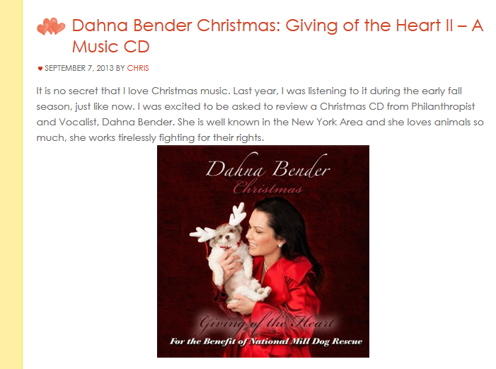 Two Classy Chics : Dahna Bender